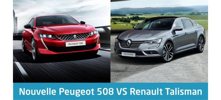 nouvelle peugeot 508 vs renault talisman. Black Bedroom Furniture Sets. Home Design Ideas