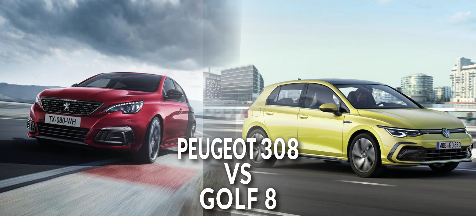 Volkswagen Golf 8 VS Peugeot 308 : le match des berlines populaires